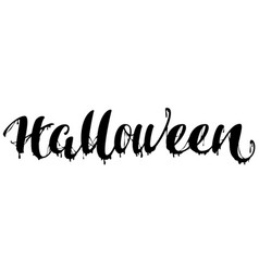 Halloween black terrible lettering text for vector