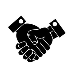 handshake done deal icon vector image