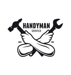Handyman service emblem Carpentry related vector