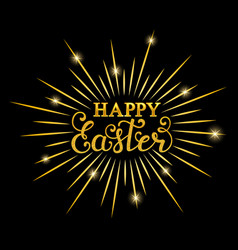 happy easter inscription vector image