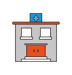 Hospital building of medical care design vector image