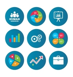 Human resources and Business Presentation board vector image
