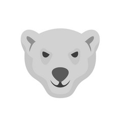 hungry head of polar bear icon flat style vector image