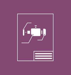 Icon motor circuit vector