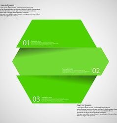 Infographic template with hexagon divided to three vector