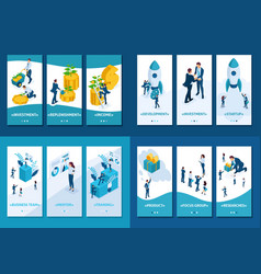 isometric mentorship research reliable investment vector image