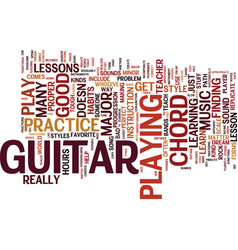 Learn how to play that guitar text background vector