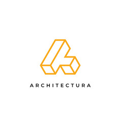 letter a logo design inspiration templatec vector image