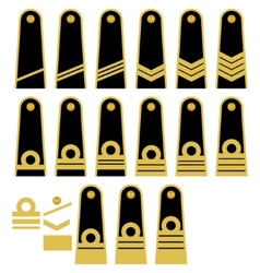 Lithuanian Navy insignia vector image