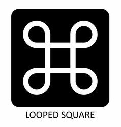 Looped square icon vector