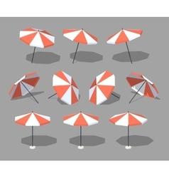 Low poly sun umbrella vector