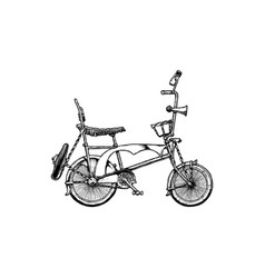 Lowrider bicycle vector