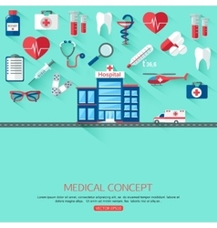 Medical research and Healthcare system concept vector image