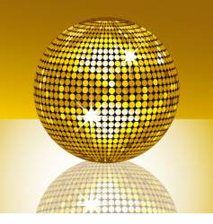 mirror ball vector image