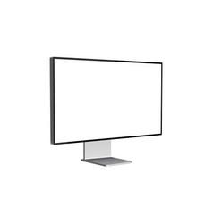 modern computer monitor mockup side view vector image