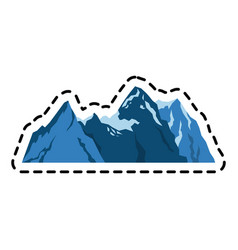 Mountain ridge icon image vector