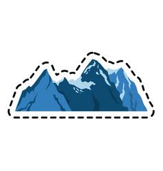 Mountain ridge icon image vector