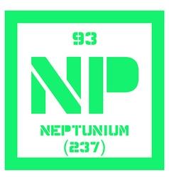 Neptunium chemical element vector