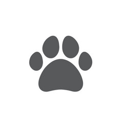 paw icon on white background vector image