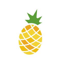Pineapple glyph color icon vector