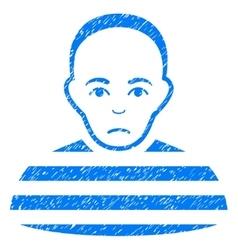 Prisoner Grainy Texture Icon vector