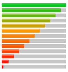 Progress bars set at different levels progress vector