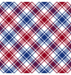 Red blue white diagonal check texture seamless vector image