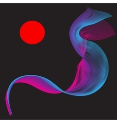 Red Purple Smoke Abstract vector