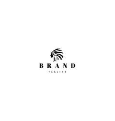 redskins injun indian black logo image vector image