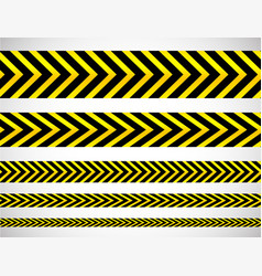 Repeatable yellow tapes bands strips editable vector