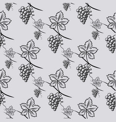 seamless pattern grape vector image