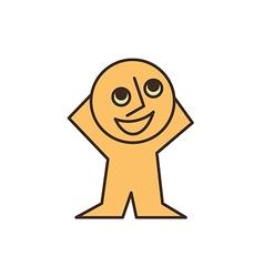 smiling yellow man vector image