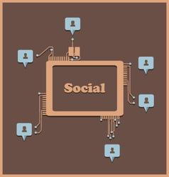 Social2 vector image