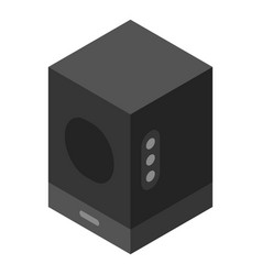 sound speaker icon isometric style vector image