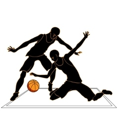 Sports games volleyball silhouettes vector image