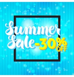 Summer Sale Lettering over Blue Abstract vector image