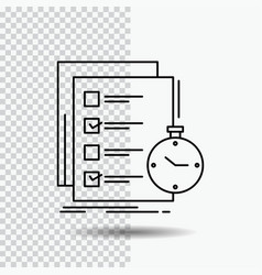 Todo task list check time line icon on vector