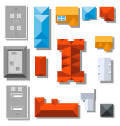 top view roofs vector image