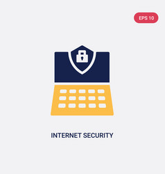 two color internet security icon from ultimate vector image