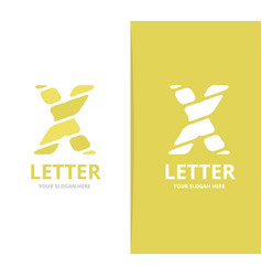unique letter x logo design template vector image