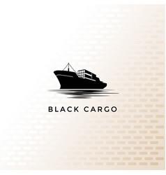 Vintage retro cargo ship vessel transportation vector