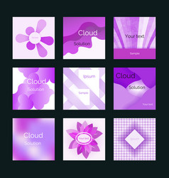 violet backgrounds set vector image