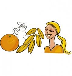 women's diet vector image
