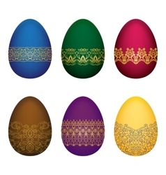 Easter colorfull eggs vector image