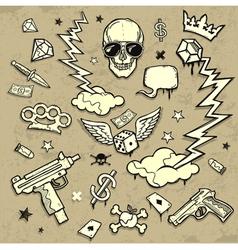 gangsta set vector image vector image