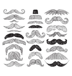 Huge set of mustache vector image