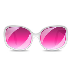 large pink sunglasses isolated on white vector image vector image