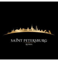 Saint Petersburg Russia city skyline silhouette vector image vector image