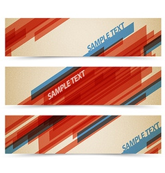 Set of retro horizontal banners vector image vector image