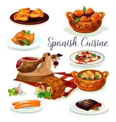 spanish cuisine dinner menu poster design vector image vector image